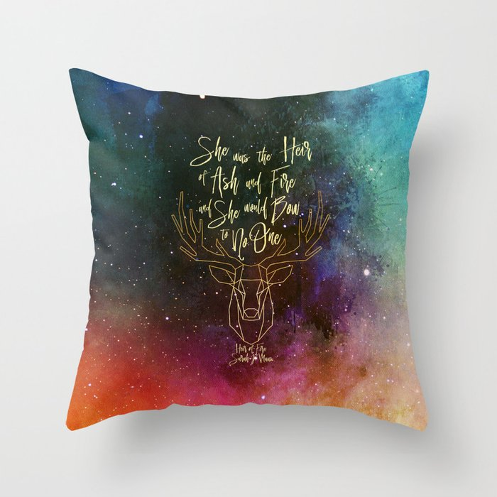 She was the heir of ash and fire... Heir of Fire (Throne of Glass Series) Quote Pillow - LitLifeCo.