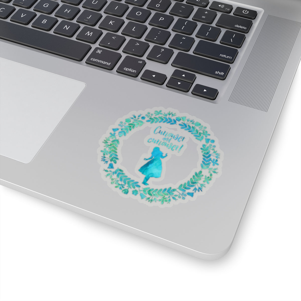 Curiouser and curiouser! Alice in Wonderland Sticker - LitLifeCo.