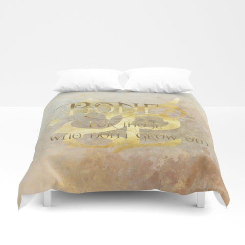 BONE for those who don't grow old. Shadowhunter Children's Rhyme Quote Duvet Cover - LitLifeCo.