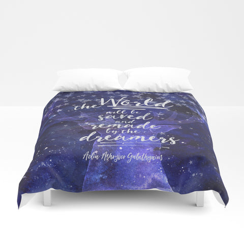 The world will be saved... Throne of Glass Quote Duvet Cover - LitLifeCo.