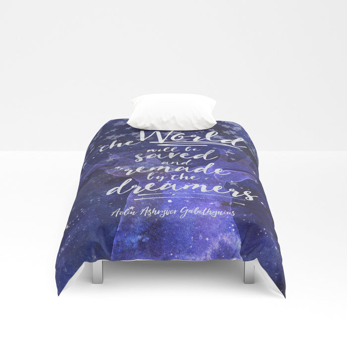 The world will be saved... Throne of Glass Quote Duvet Cover