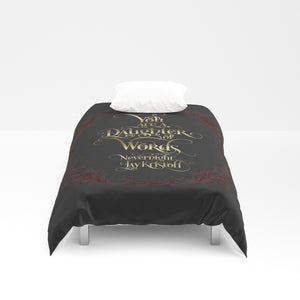 You are a daughter... Nevernight Quote Duvet Cover - LitLifeCo.