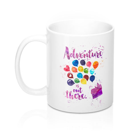 Adventure is out there. Up Quote Mug - LitLifeCo.