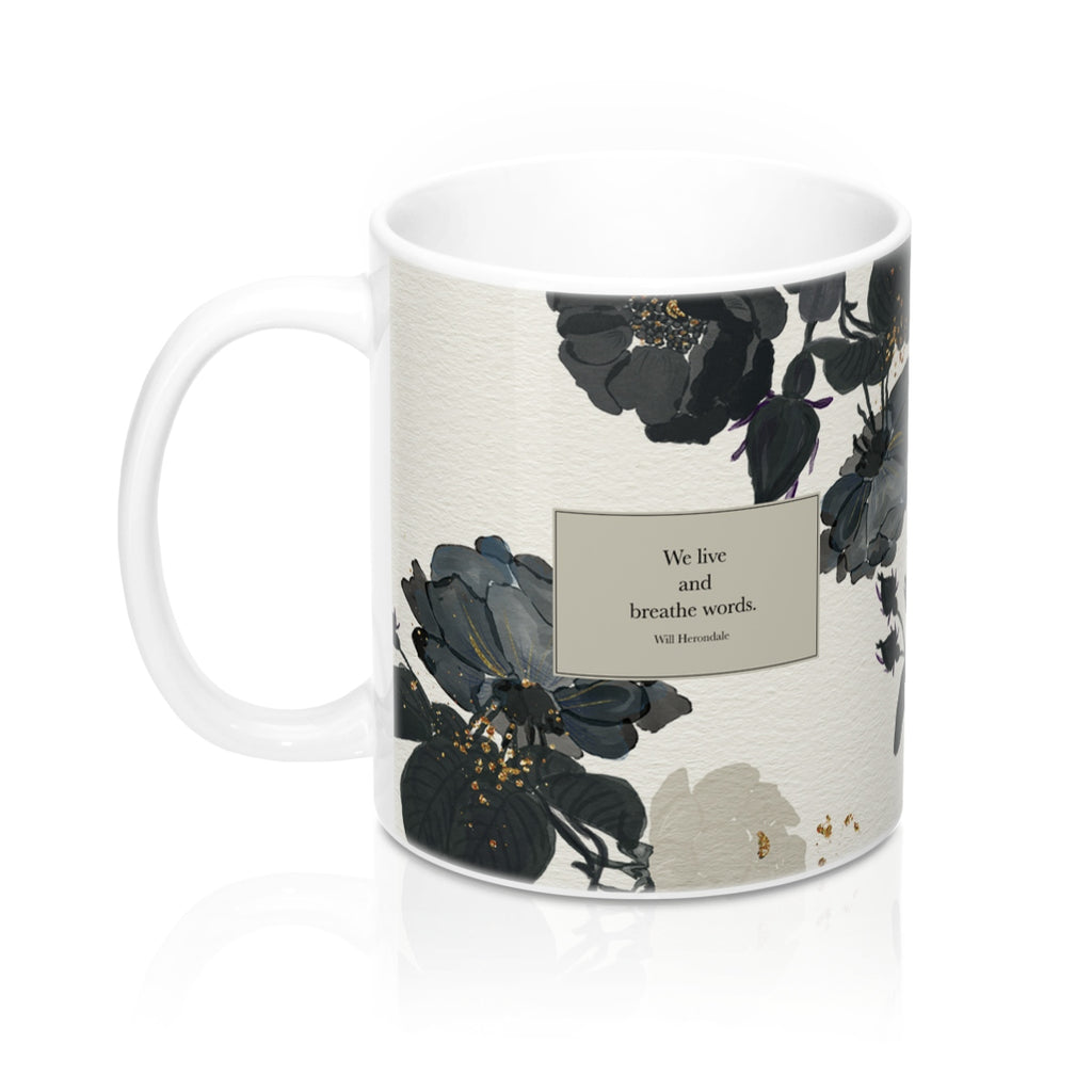 We live and breathe words. Will Herondale Quote Mug - LitLifeCo.