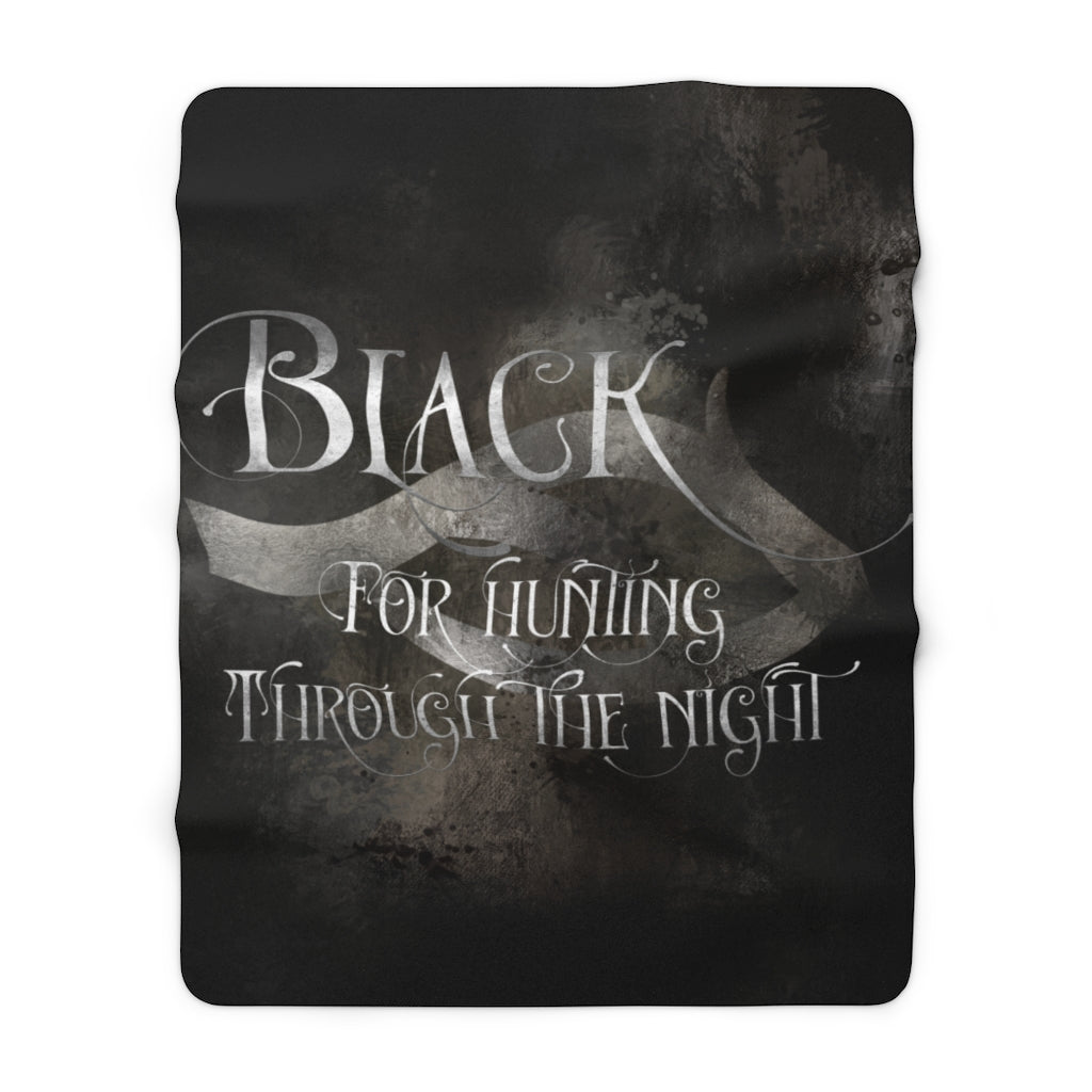 BLACK Shadowhunter Children's Rhyme Throw Blanket