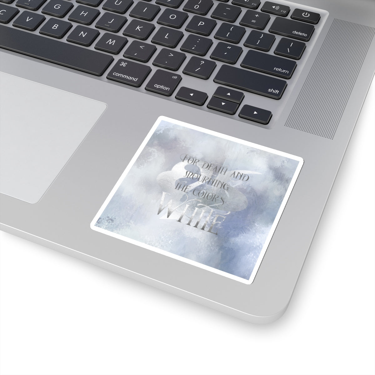 For death and mourning the color's WHITE. Shadowhunter Children's Rhyme Sticker - LitLifeCo.