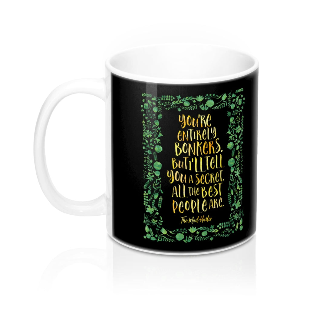 You're entirely bonkers... Alice in Wonderland Mug - LitLifeCo.