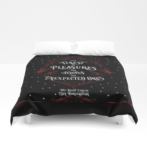 The finest of pleasures... The Night Circus Quote Duvet Cover - LitLifeCo.