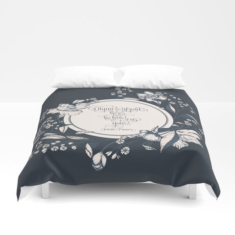 Dinna be afraid... Jamie Fraser Quote Duvet Cover - LitLifeCo.