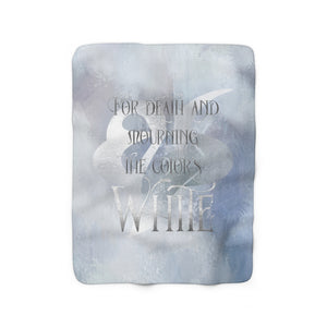 WHITE Shadowhunter Children's Rhyme Throw Blanket
