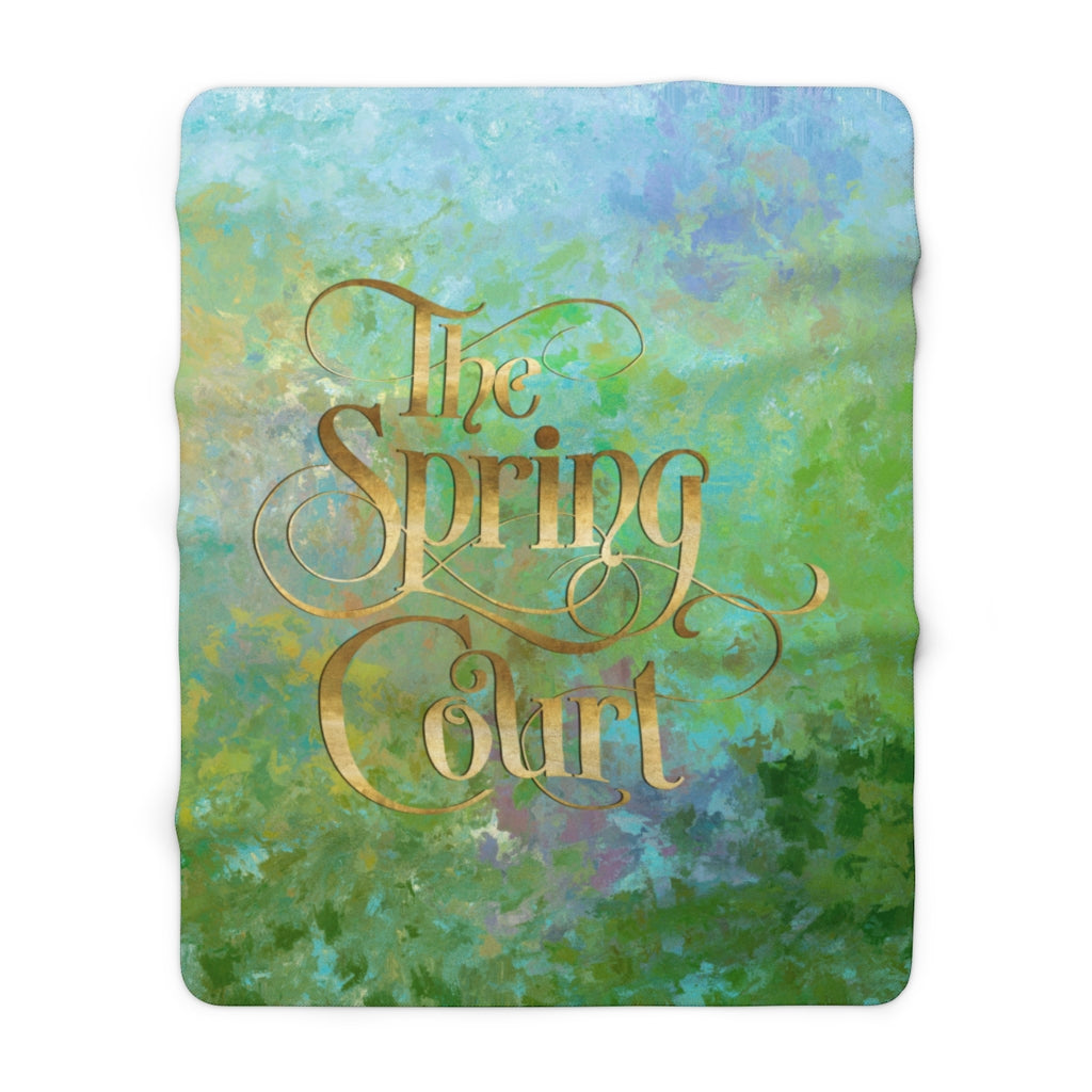 The Spring Court Throw Blanket