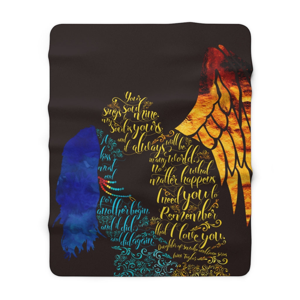 Your soul sings to mine... Daughter of Smoke and Bone Throw Blanket