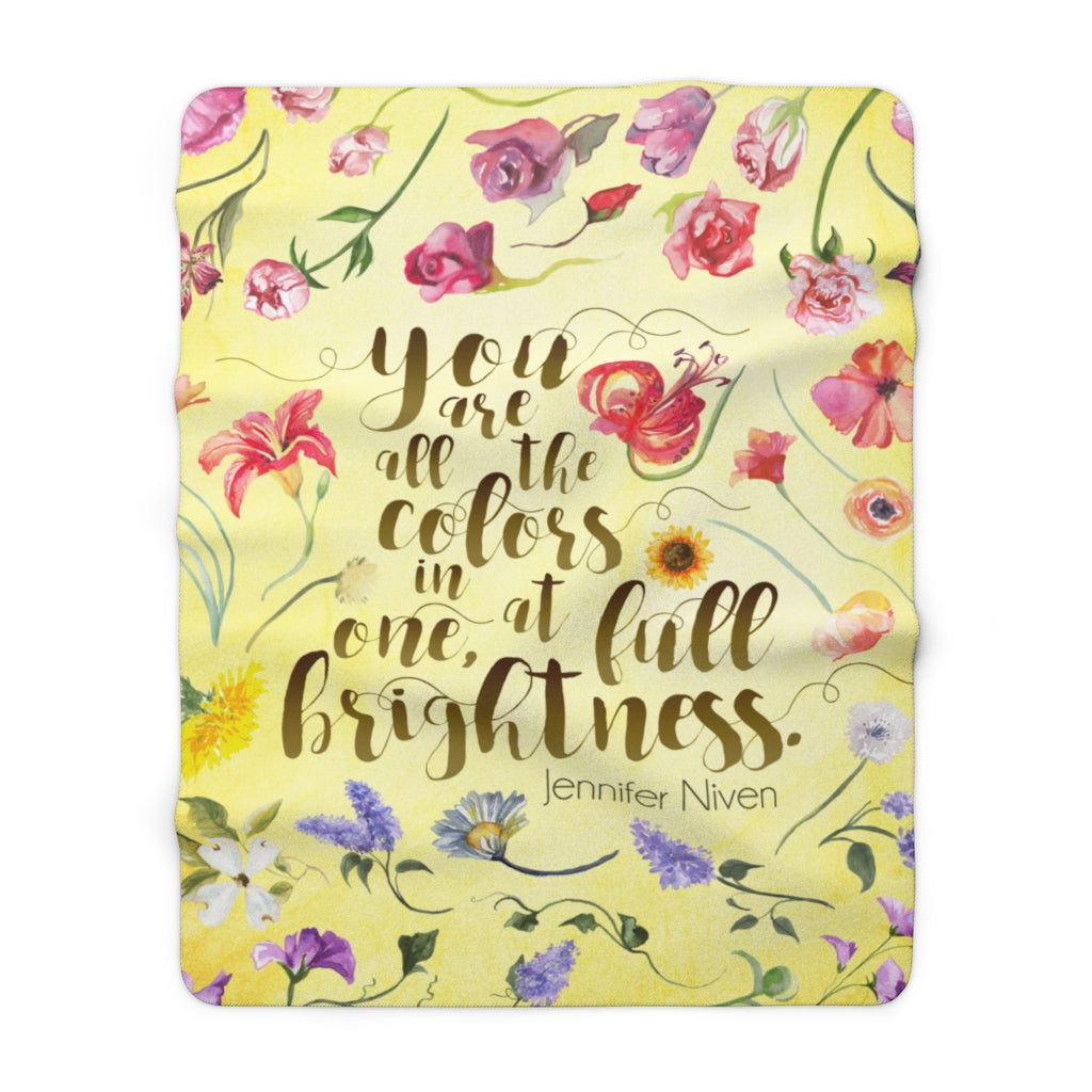 You are all the colors... All The Bright Places Throw Blanket