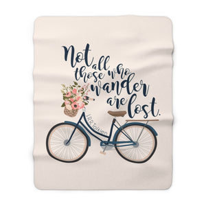 Not all those who wander... Lord of the Rings (LOTR) Quote Throw Blanket