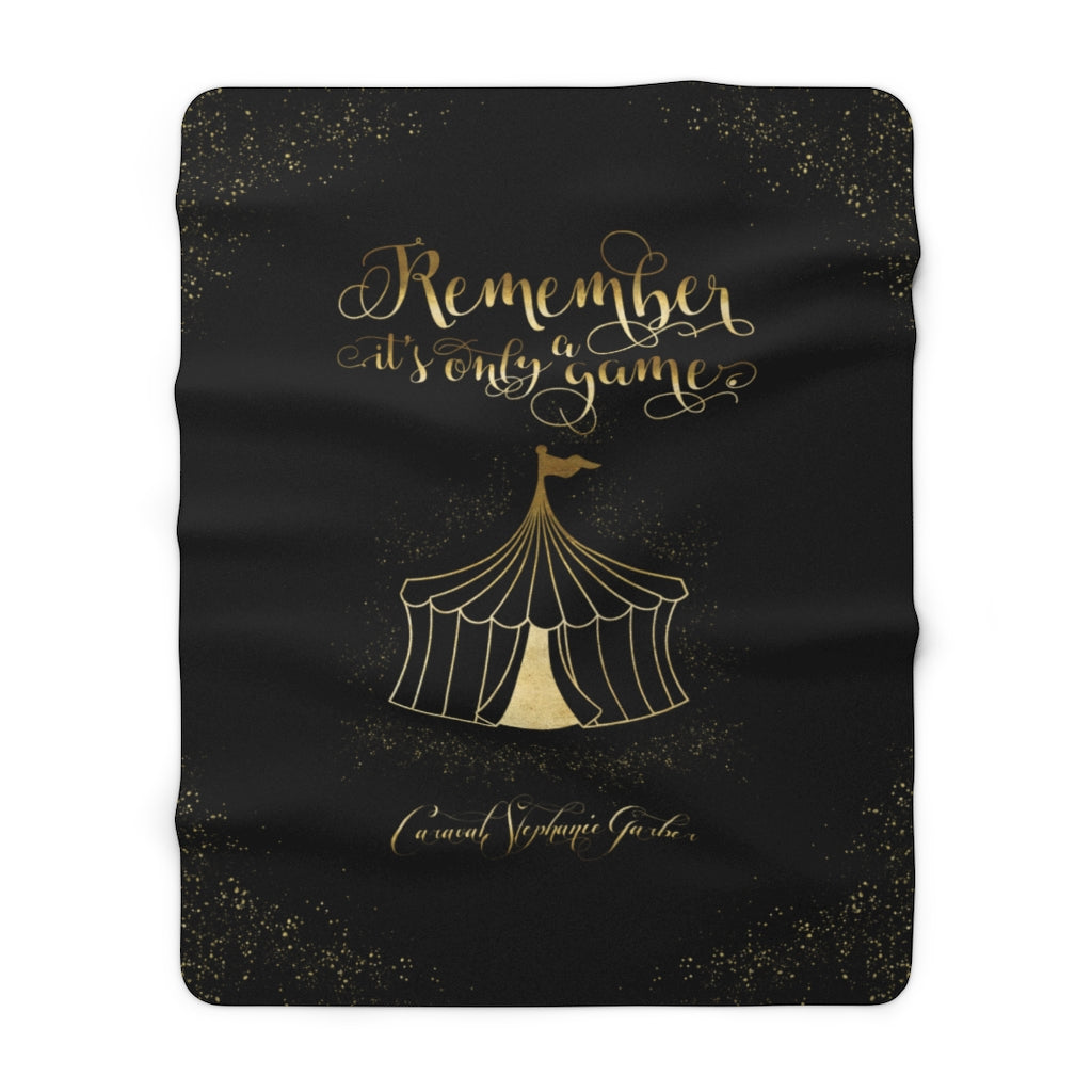 Remember, it's only a game. Caraval Quote Throw Blanket