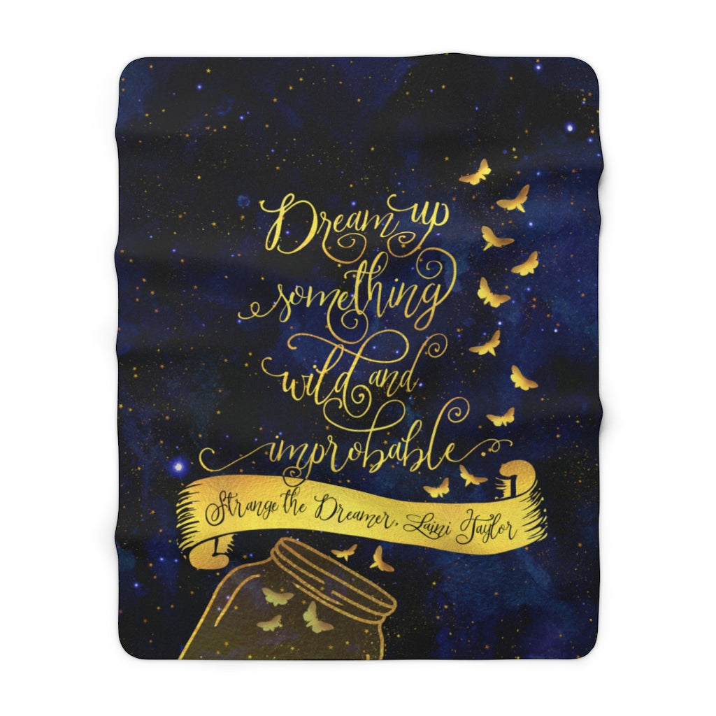Dream up something wild... Strange the Dreamer Throw Blanket