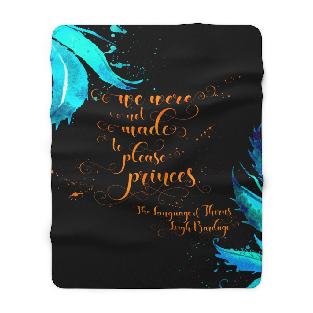 We were not made... The Language of Thorns Throw Blanket