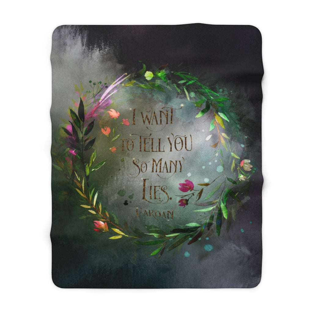 I want to tell you... Cardan Throw Blanket