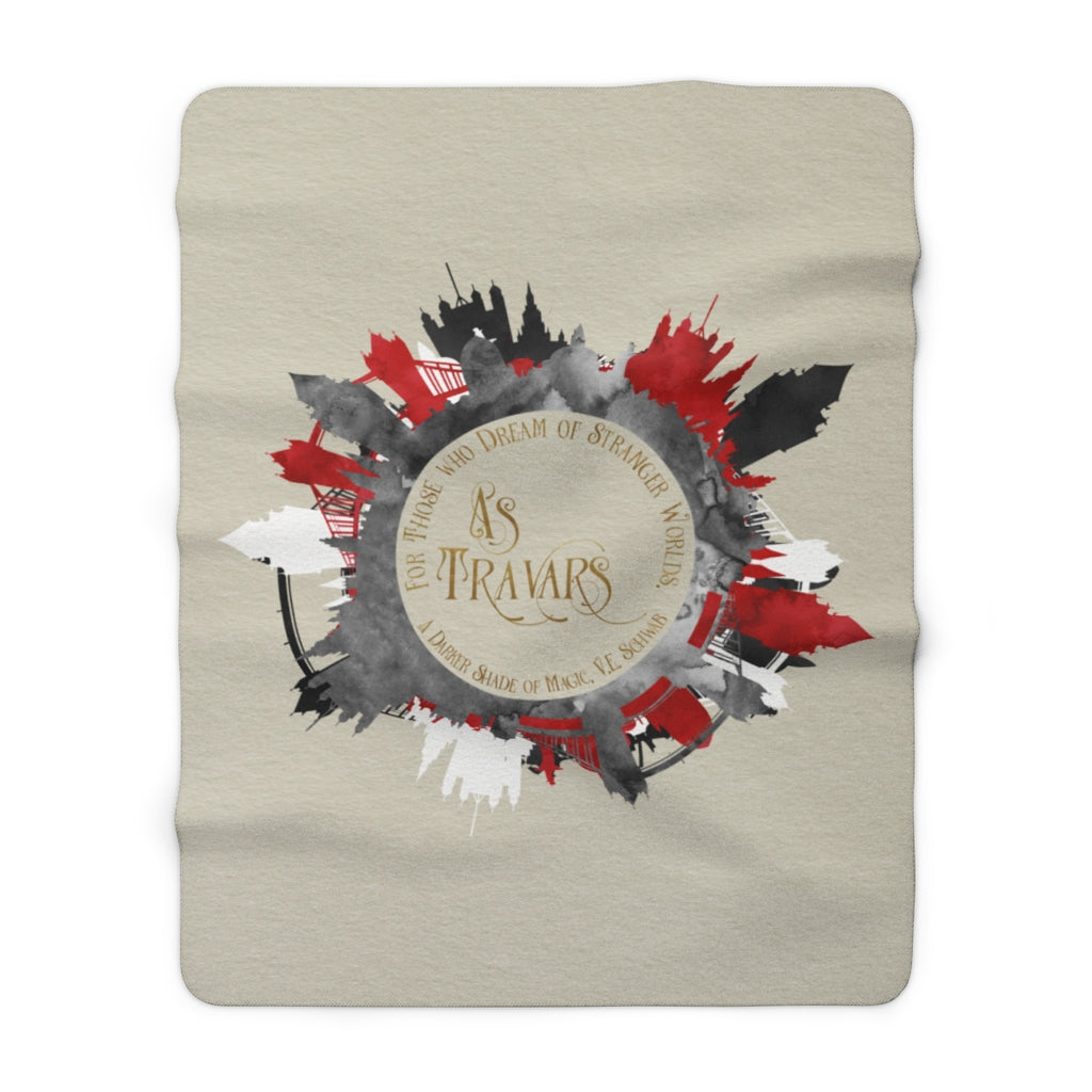 AS TRAVARS. A Darker Shade of Magic Throw Blanket