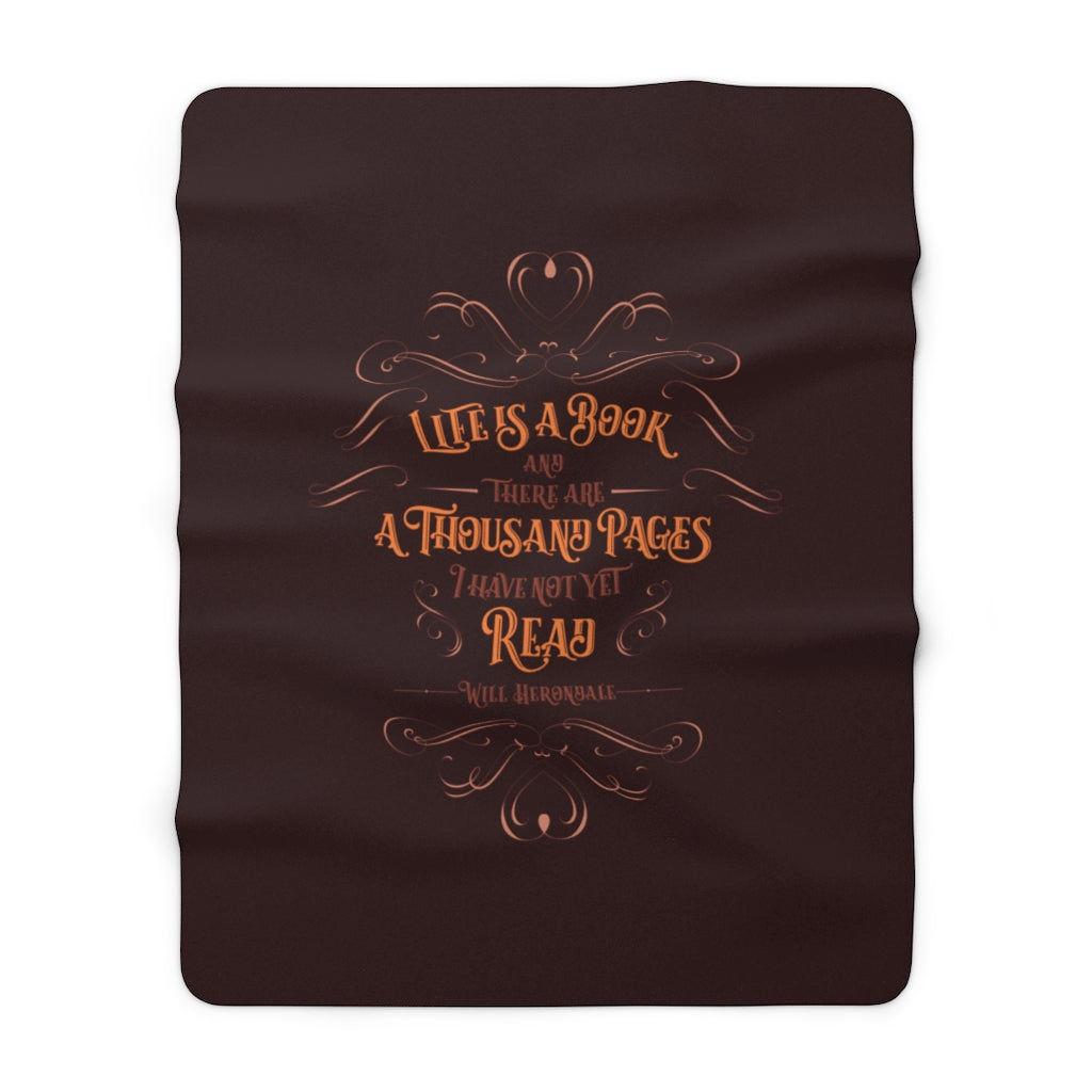 Life is a book... Will Herondale Throw Blanket
