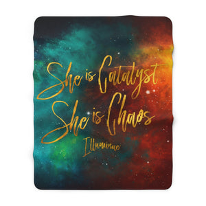 She is catalyst... Illuminae Quote Throw Blanket