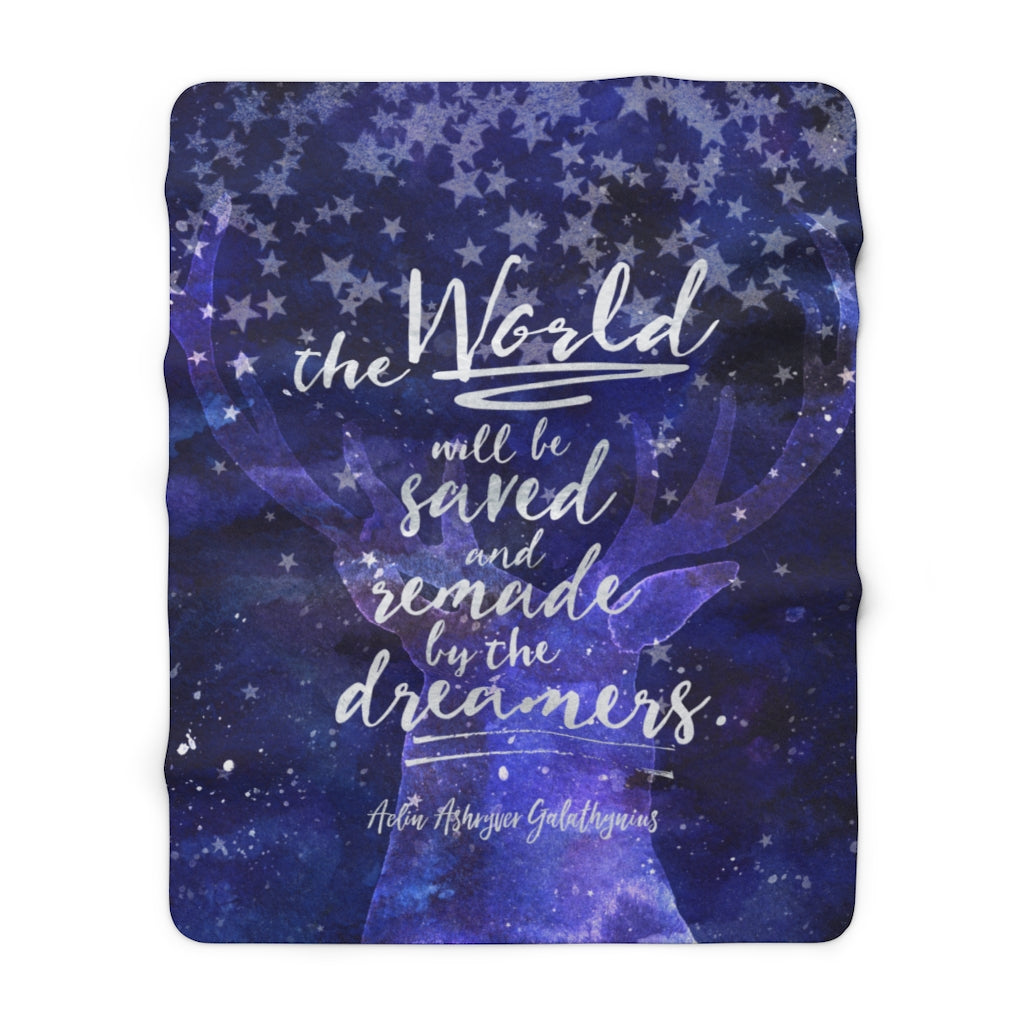 The world will be saved... Throne of Glass Throw Blanket