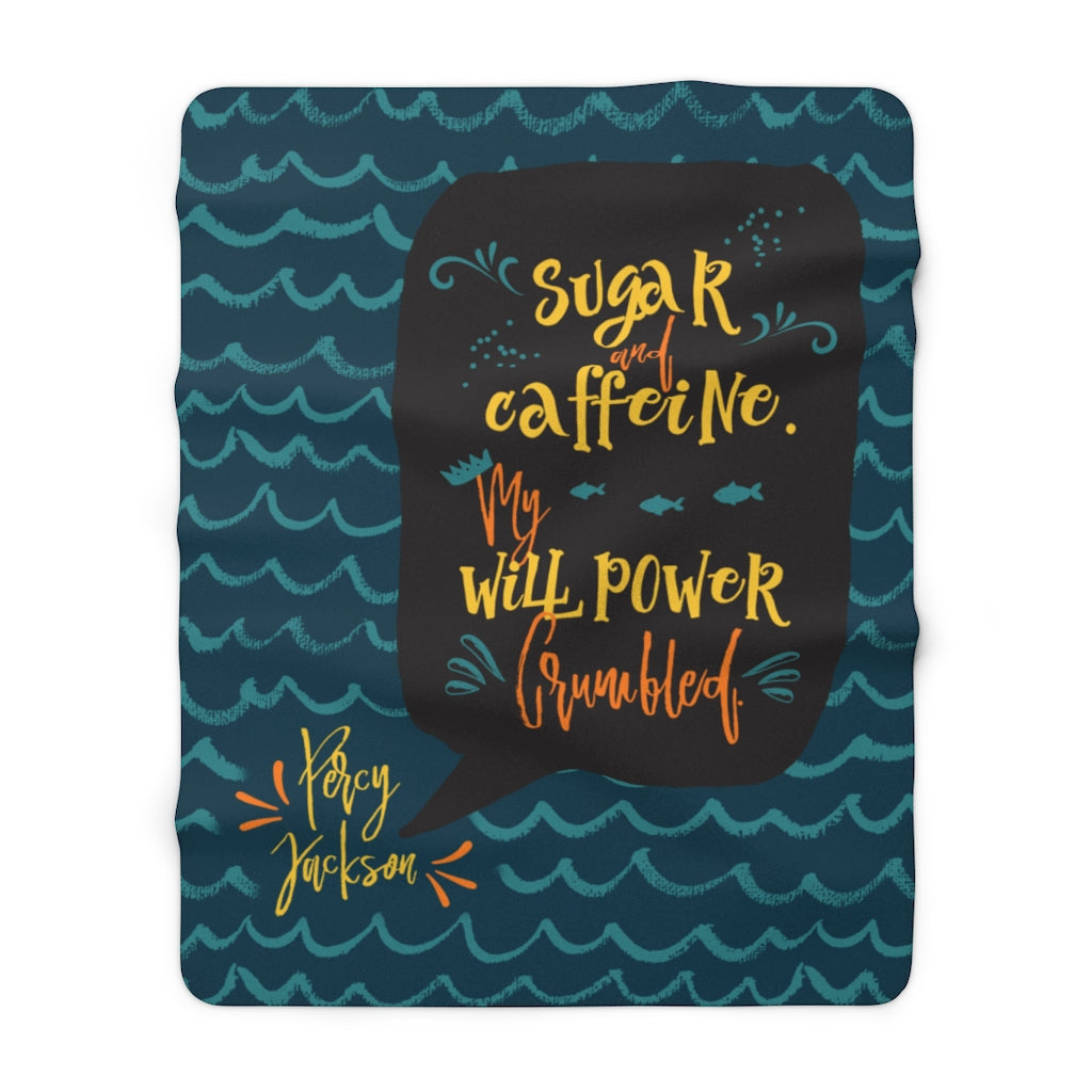 Sugar and caffeine... Percy Jackson Throw Blanket