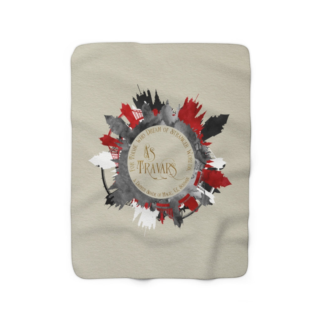 AS TRAVARS. A Darker Shade of Magic Quote Throw Blanket