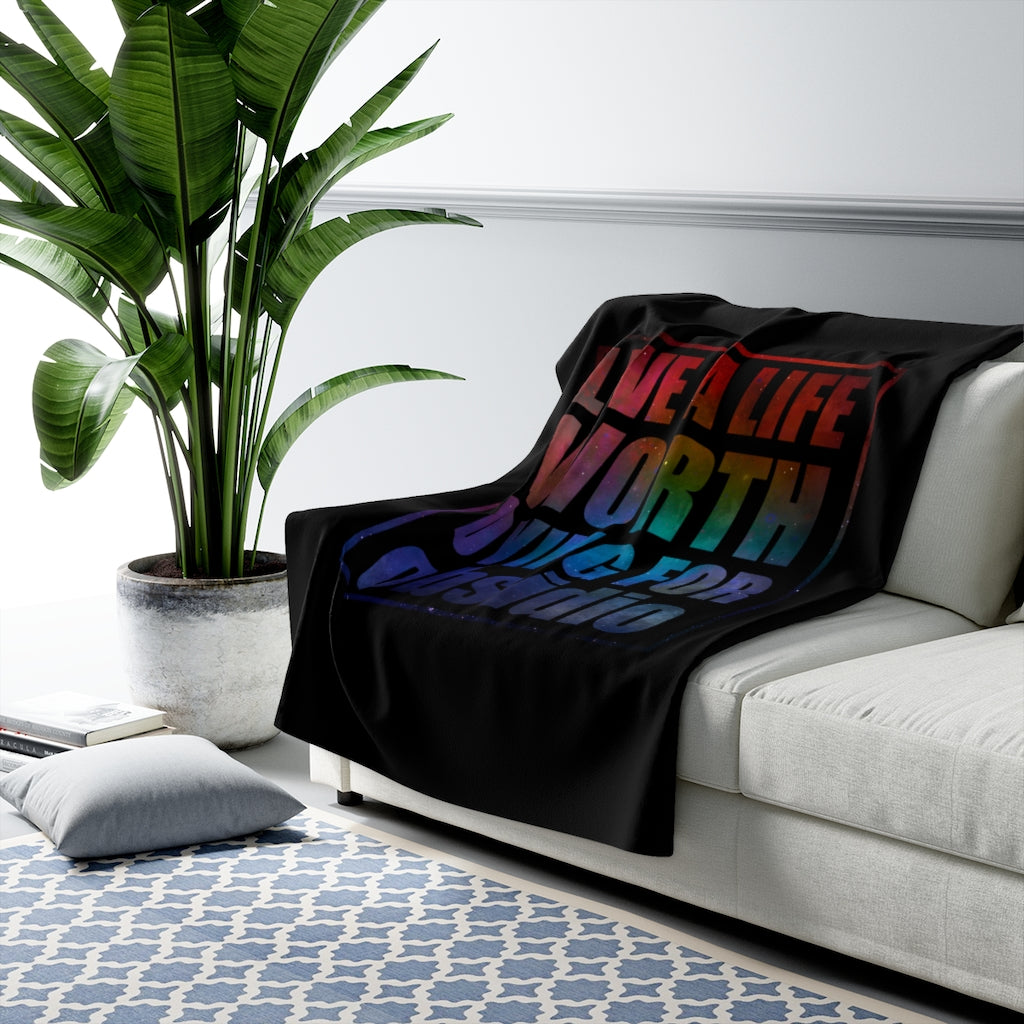 Live a life... Obsidio Quote Throw Blanket