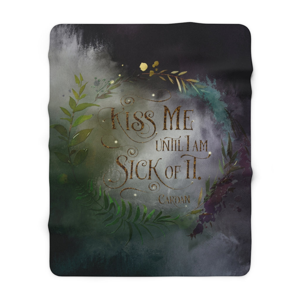 Kiss me... Cardan Throw Blanket