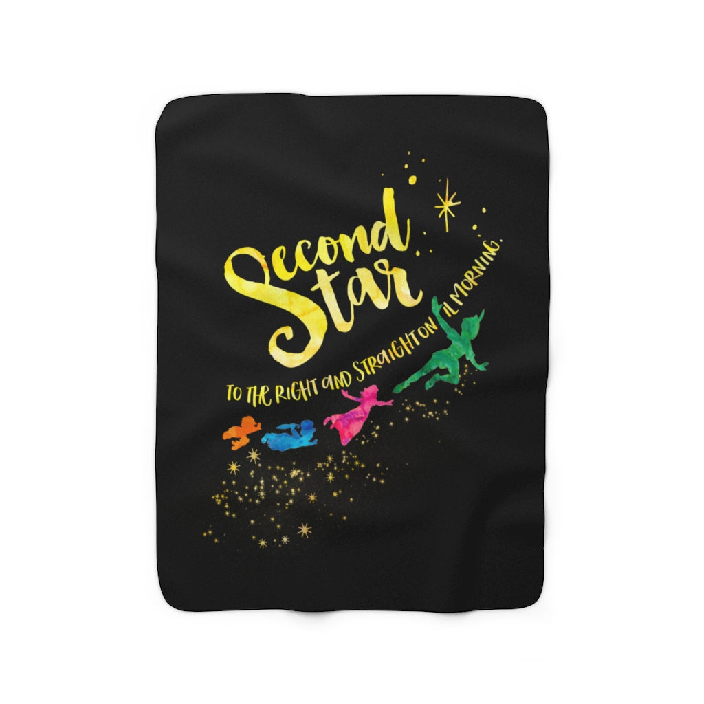 Second star to the right... Peter Pan Throw Blanket