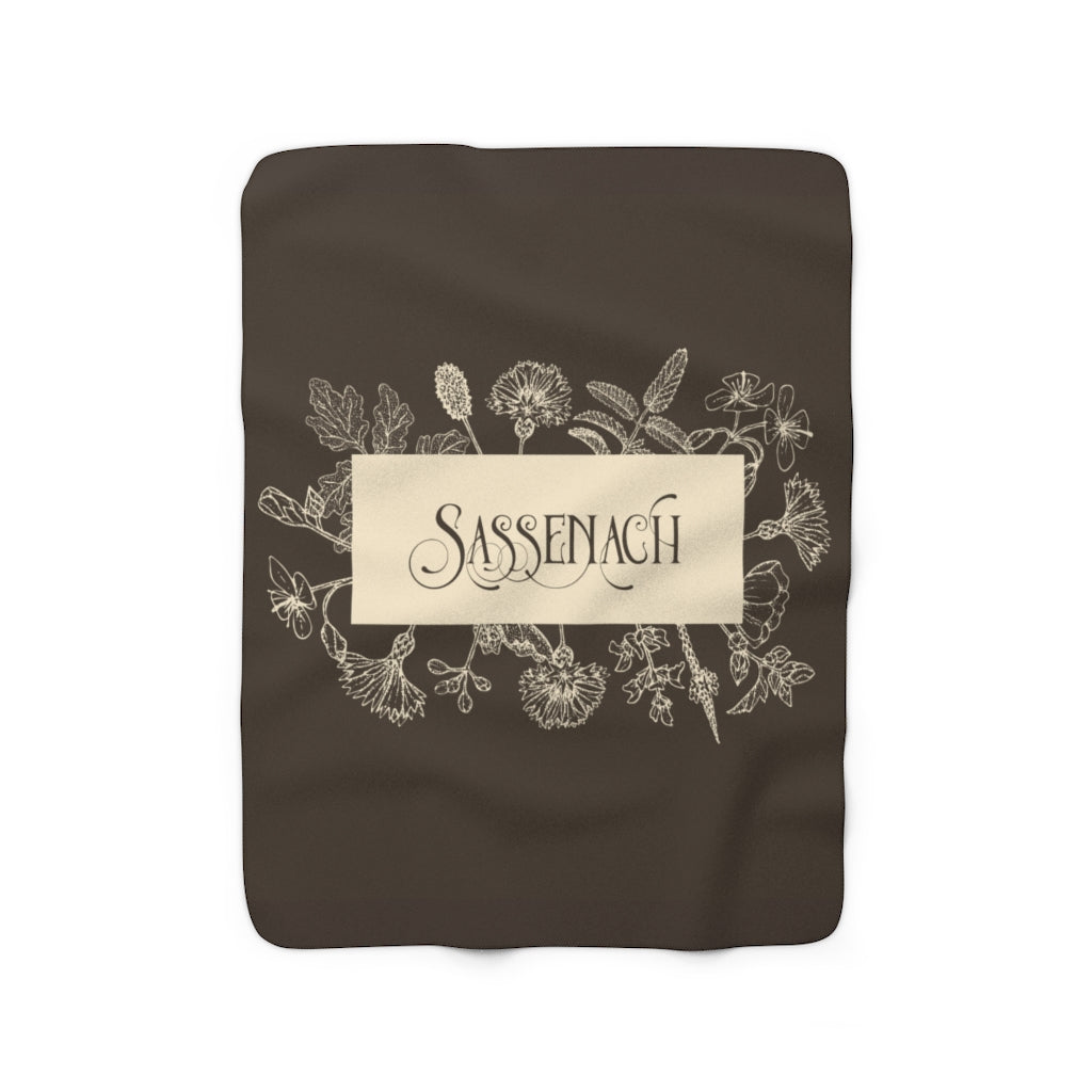 SASSENACH in Sepia Throw Blanket