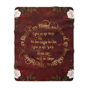Outlander Wedding Vows Throw Blanket