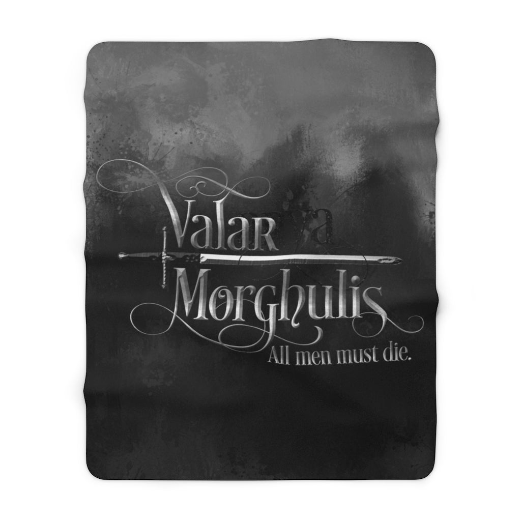 Valar Morghulis. Game of Thrones Quote Throw Blanket