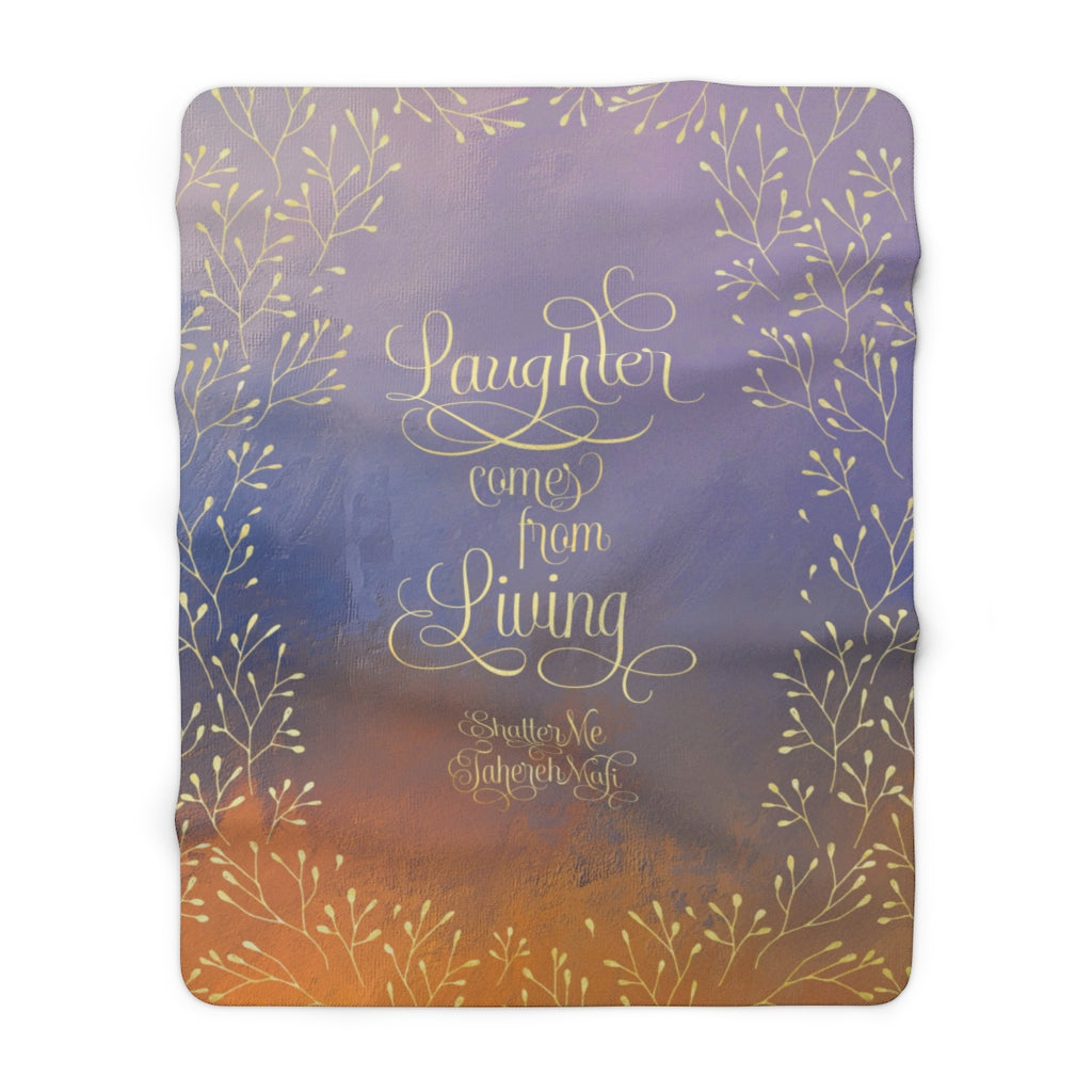Laughter comes... Shatter Me Throw Blanket