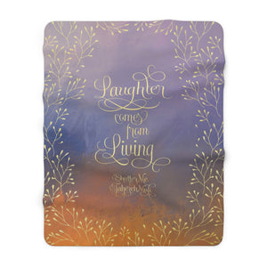 Laughter comes... Shatter Me Quote Throw Blanket