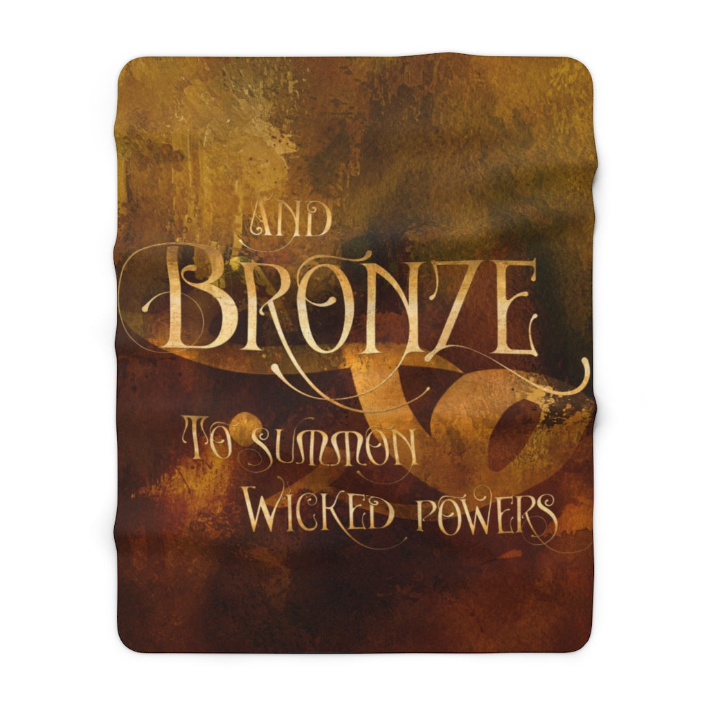 BRONZE Shadowhunter Children's Rhyme Throw Blanket