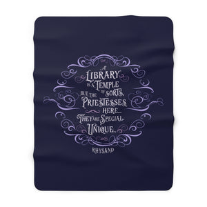 A library is a temple... Rhysand Throw Blanket