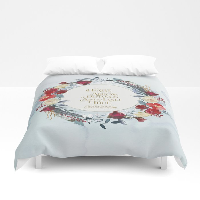 The heart is an arrow... Six of Crows Quote Duvet Cover - LitLifeCo.