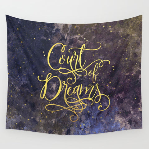 Court of Dreams. A Court of Wings and Ruin Wall Tapestry - LitLifeCo.