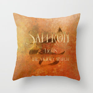 SAFFRON lights the victory march. Shadowhunter Children's Rhyme Quote Pillow - LitLifeCo.