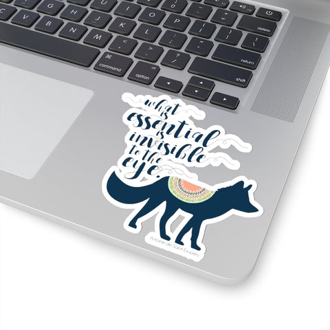 What is essential... The Little Prince Quote Sticker - LitLifeCo.