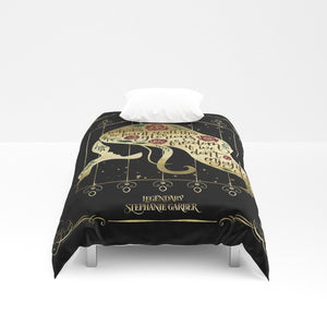 What's the point of all this glorious freedom if we don't enjoy it? Tella Quote Duvet Cover - LitLifeCo.