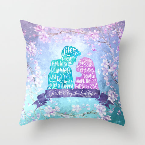 Life and Love According to Covinsky. To All the Boys I've Loved Before Quote Pillow