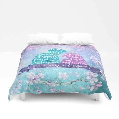 Life and Love According to Covinsky. To All the Boys I've Loved Before Quote Duvet Cover