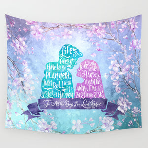 Life and Love According to Covinsky. To All the Boys I've Loved Before Quote Wall Tapestry - LitLifeCo.