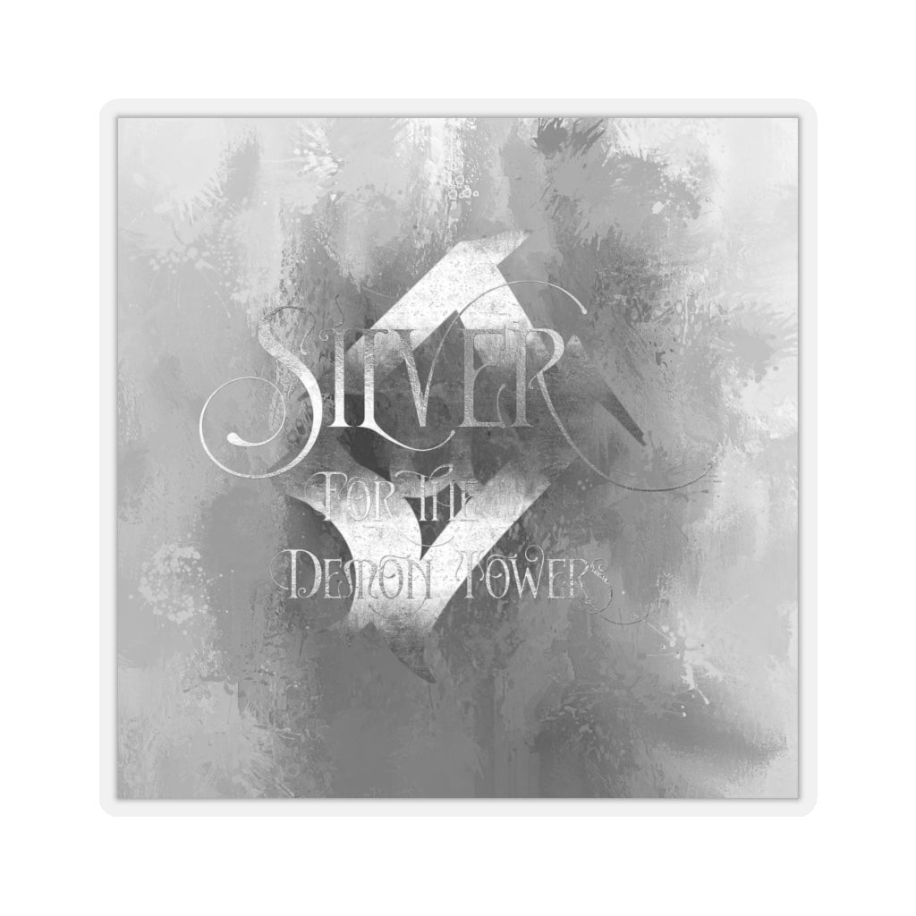 SILVER for the demon towers. Shadowhunter Children's Rhyme Sticker - LitLifeCo.