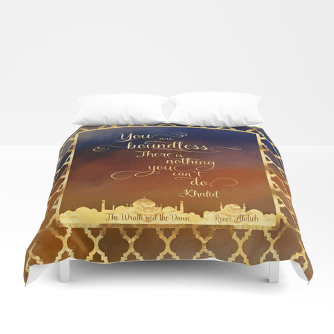 You are boundless... The Wrath and the Dawn Quote Duvet Cover - LitLifeCo.