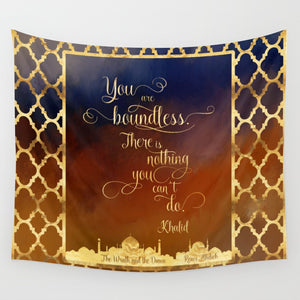 You are boundless... The Wrath and the Dawn Quote Wall Tapestry - LitLifeCo.