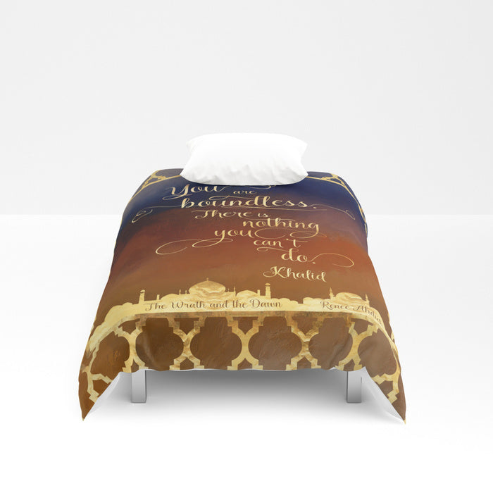 You are boundless... The Wrath and the Dawn Quote Duvet Cover